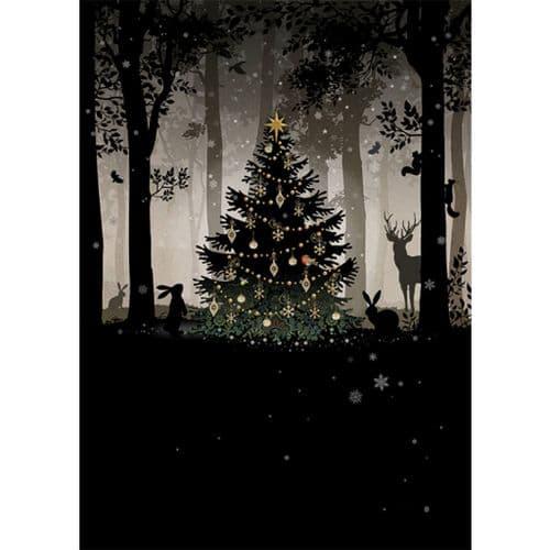 Bug Art Woodland Gathering Christmas Card