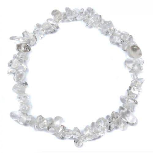 Clear Quartz Crystal Gemstone Chip Bracelet | Clouds