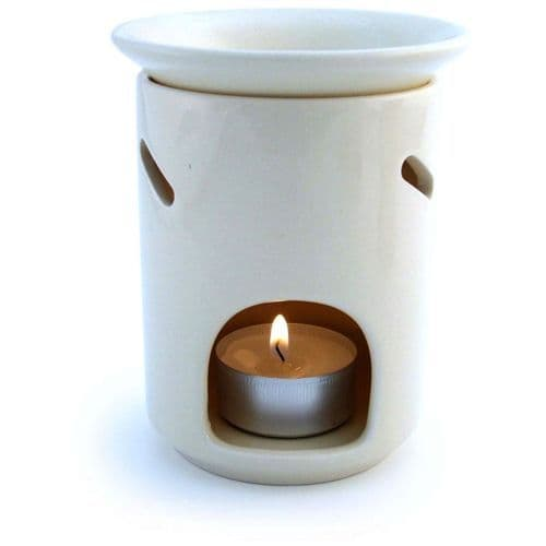 Deep Well White Ceramic Oil Burner
