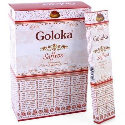 Goloka Saffron Incense Sticks - Clouds Online