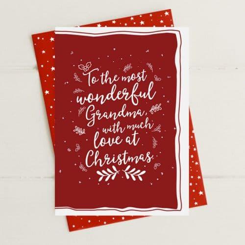 Grandma Much Love At Christmas Greeting Card