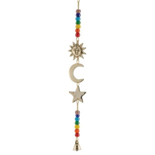 Hanging Sun, Moon & Star With Chakra Beads