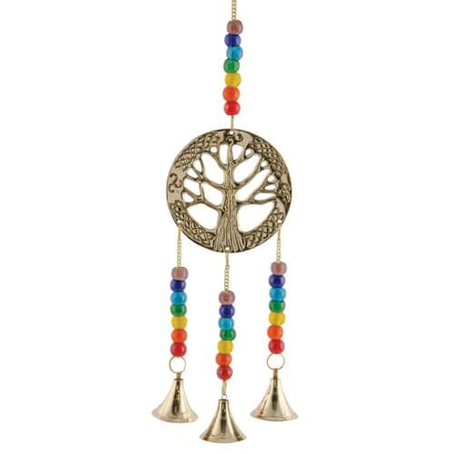 Tree of Life Hanging Decoration With Chakra Beads | Clouds Online UK