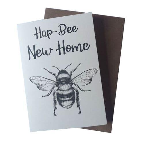 HapBee New Home Greetings Card