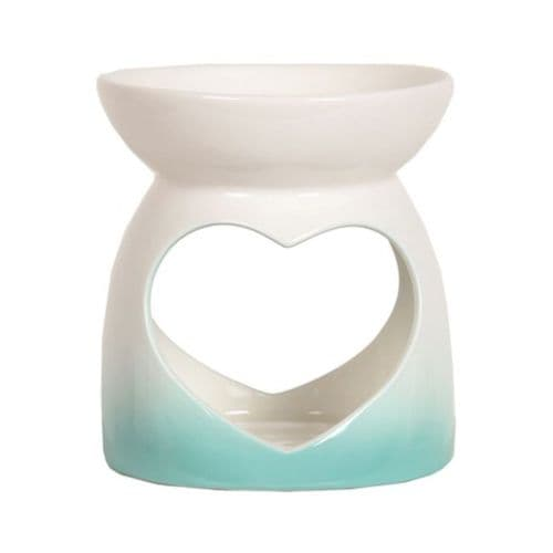 Heart Oil Burner - Teal