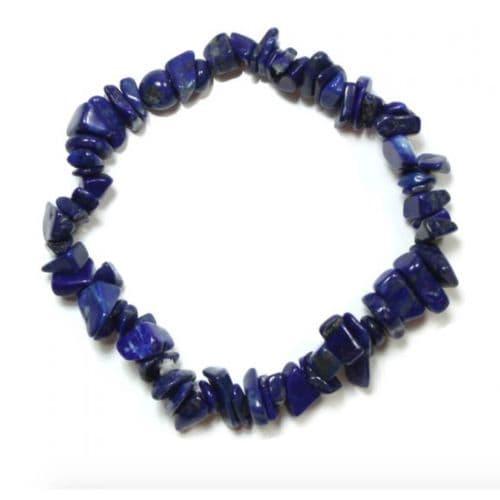 Lapis Lazuli Gemstone Chip Bracelet | Clouds