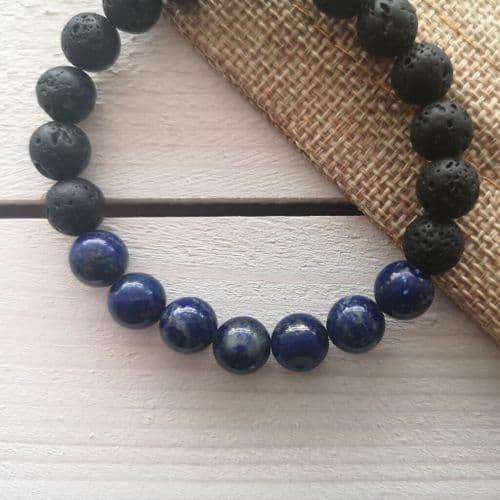 Lapis Lazuli Essential Oil Diffuser Bracelet