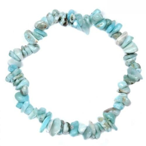 Larimar Gemstone Chip Bracelet | Clouds