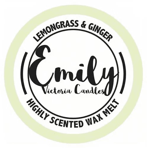 Lemongrass & Ginger Highly Scented Wax Melt, Emily Victoria Candles