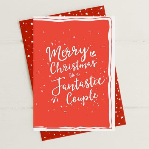 Merry Christmas - Fantastic Couple Greeting Card