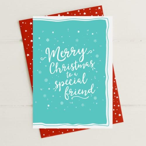 Merry Christmas - Special Friend Greeting Card