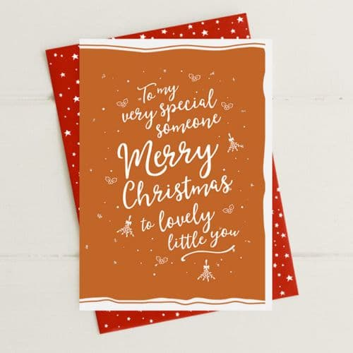 Merry Christmas - Very Special Someone Greeting Card