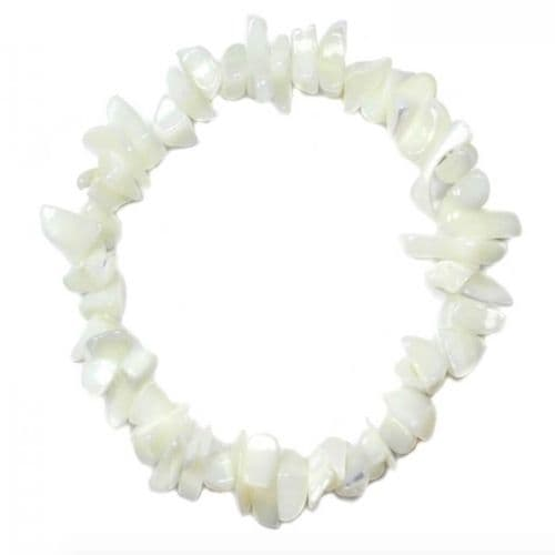 Mother of Pearl Chip Bracelet | Clouds