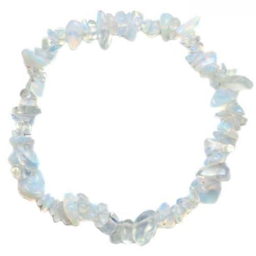 Opalite Glass Chip Bracelet