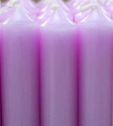 Pastel Violet Bistro Dinner Candle