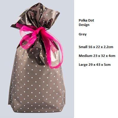 Polkadot Black Drawstring Gift Bag by GiftMate