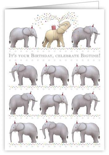Quire Birthday Elephants Greeting Card