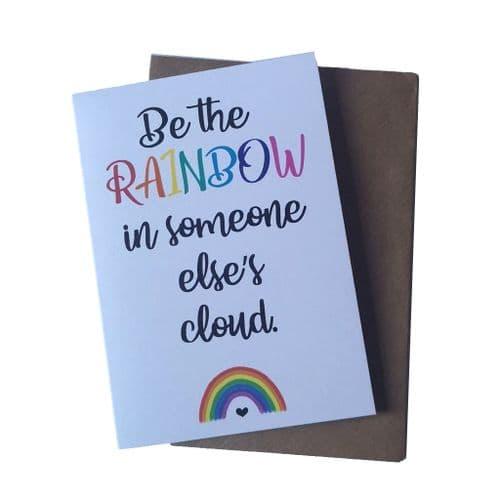 Rainbow Cloud Greetings Card | Clouds Online