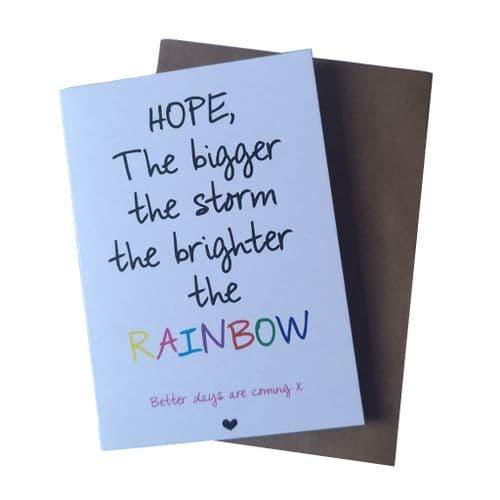 Rainbow Hope Greetings Card | Clouds Online