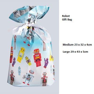 Robot Drawstring Gift Bag by GiftMate