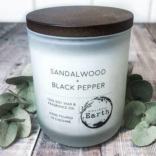 Sandalwood & Black Pepper Candle - Large