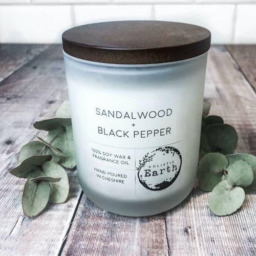 Sandalwood & Black Pepper Candle - Medium