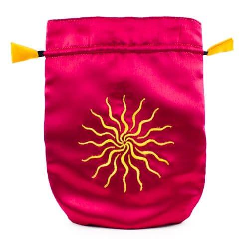 Satin Pink Sunstar Tarot Bag