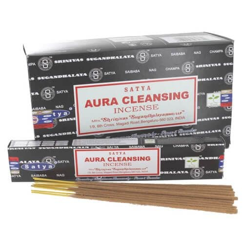 Satya Aura Cleansing  Incense Sticks - Clouds Online