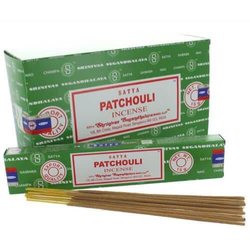 Satya Patchouli Incense Sticks - Clouds Online