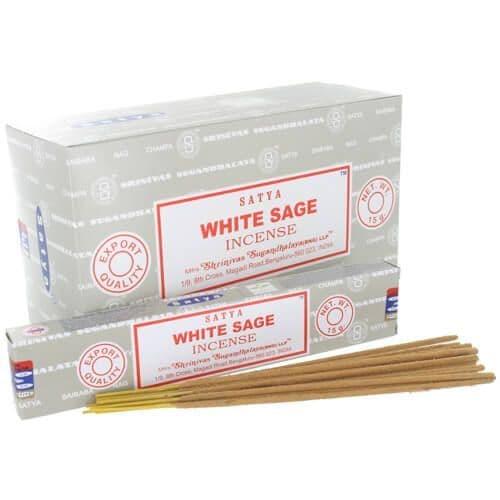 Satya White Sage Incense Sticks - Clouds Online