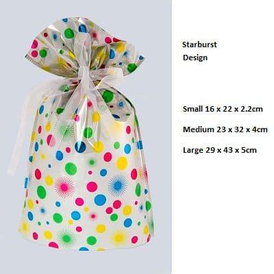 Star White Drawstring Gift Bag by GiftMate