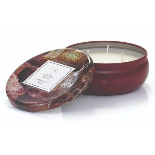 The Scented Home 3 Wick Tin Candle - Moroccan Spice