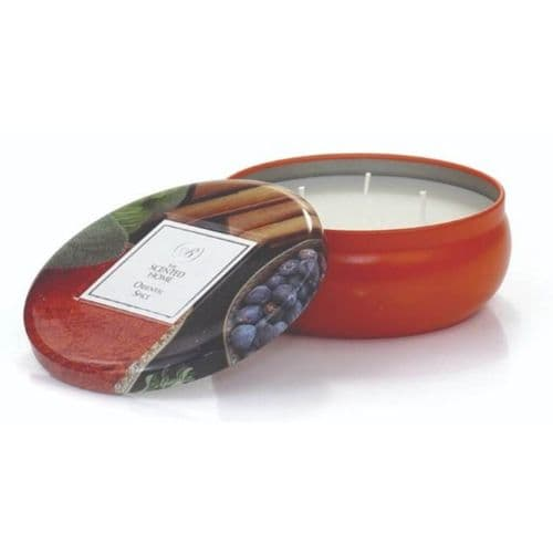 The Scented Home 3 Wick Tin Candle - Oriental Spice