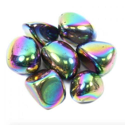 Titanium Aura Quartz Tumblestone