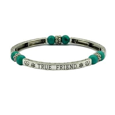 True Friend Sentiment Bracelet