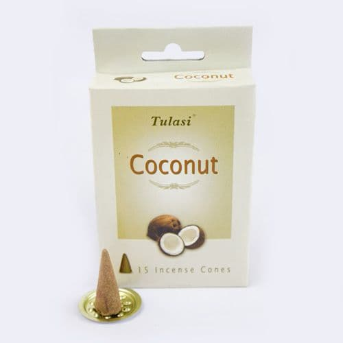 Tulasi Coconut Incense Cones