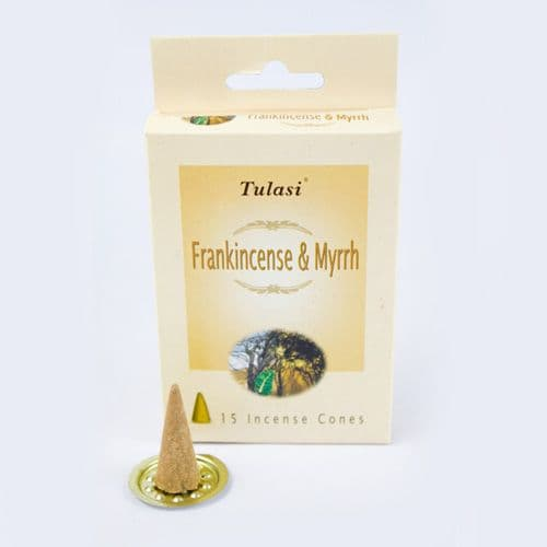 Tulasi Frankincense and Myrrh Incense Cones