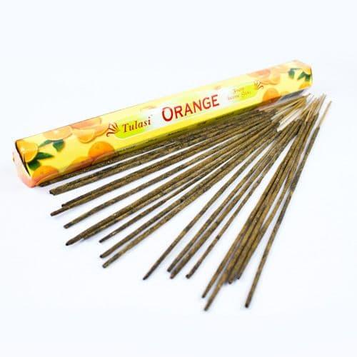 Tulasi Orange Incense Sticks