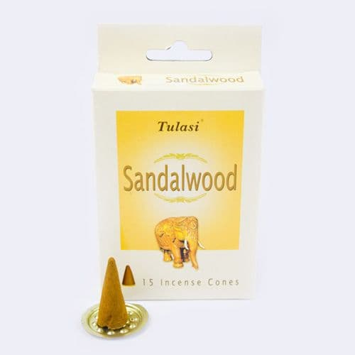 Tulasi Sandalwood Incense Cones