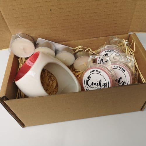 Wax Melt & Burner Gift Set - Sweet Scents Mix