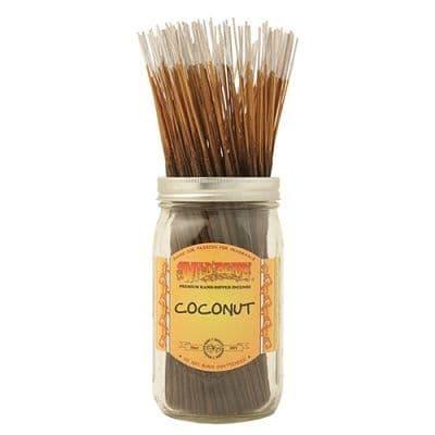 Wildberry 10 inch Coconut Incense Sticks