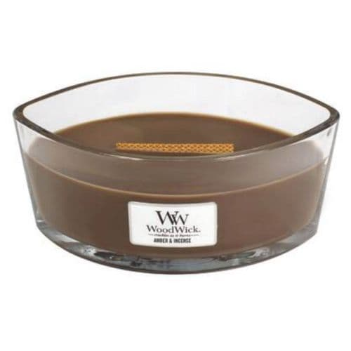 Woodwick Ellipse Candle Amber and Incense