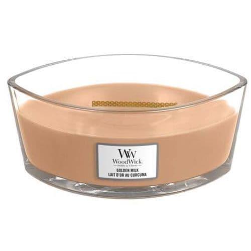 Woodwick Ellipse Candle Golden Milk