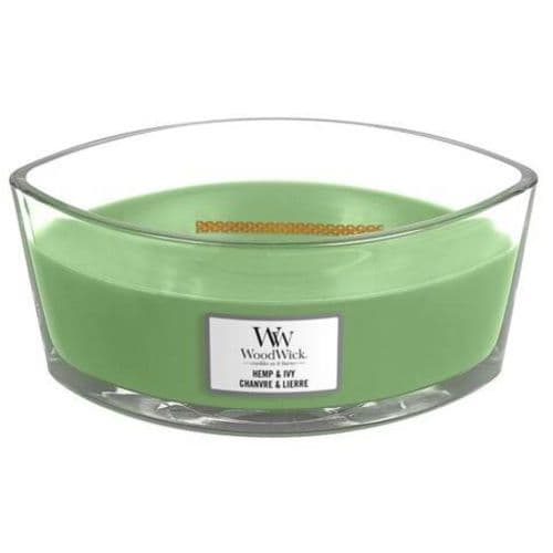 Woodwick Ellipse Candle Hemp and Ivy | Cloudsonline