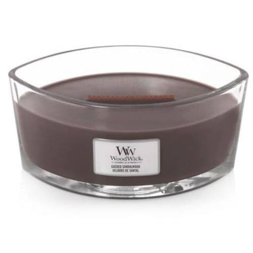 Woodwick Ellipse Candle Sueded Sandalwood | Cloudsonline