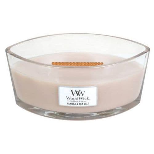 Woodwick Ellipse Candle Vanilla and Sea Salt | Cloudsonline
