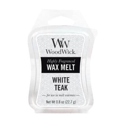 Woodwick Mini Hourglass Wax Melt - White Teak