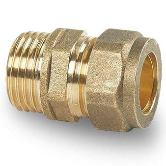 Male Iron Plumbing Fittings - Straight Couplings 8mm - 22mm