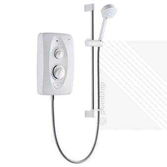 NEW Mira Jump Multi-Fit 9.5kW (2014) Electric Shower Kit in White & Chrome (1.1788.011)