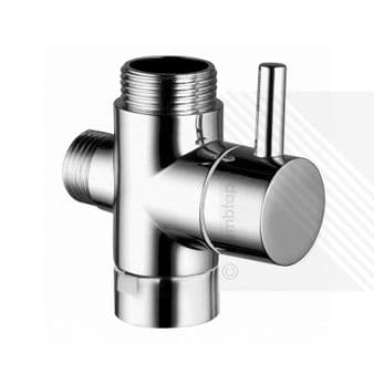 Round Diverter Valve with Lever for Exposed Showers Arms